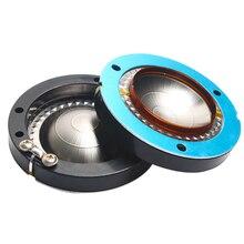 Marco redondo especial de película de titanio, bobina de voz de 44,4mm, cuerno, Tweeter, diafragma importado de 44,5 núcleos, accesorios para altavoces DIY, 2 uds.