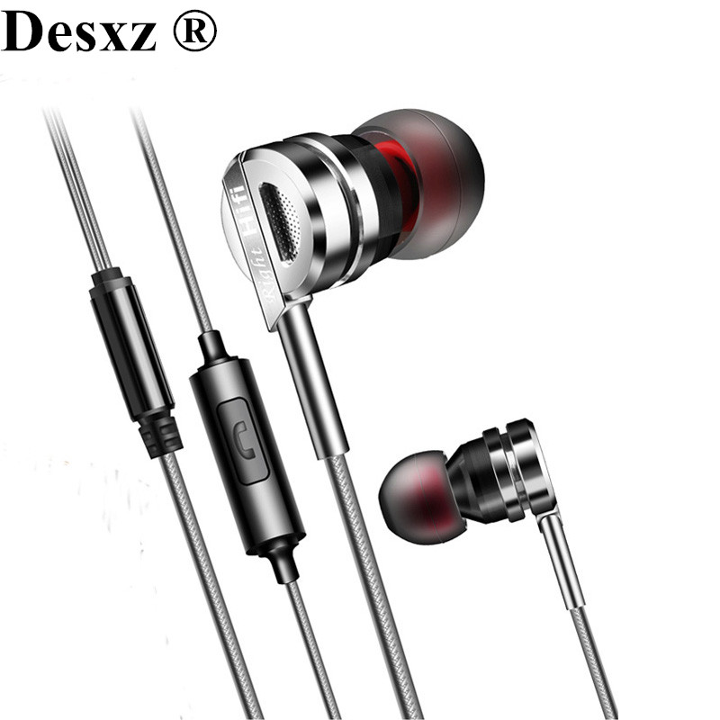 Desxz Earphones headphones HiFi Metal Earbuds Headset with Microphone for Cellphone iPhone Samsung xiaomi Phone Earpods Airpods m400 3 5mm in ear bass earphones headphones music headset earbuds with microphone for iphone samsung xiaomi huawei htc mp3