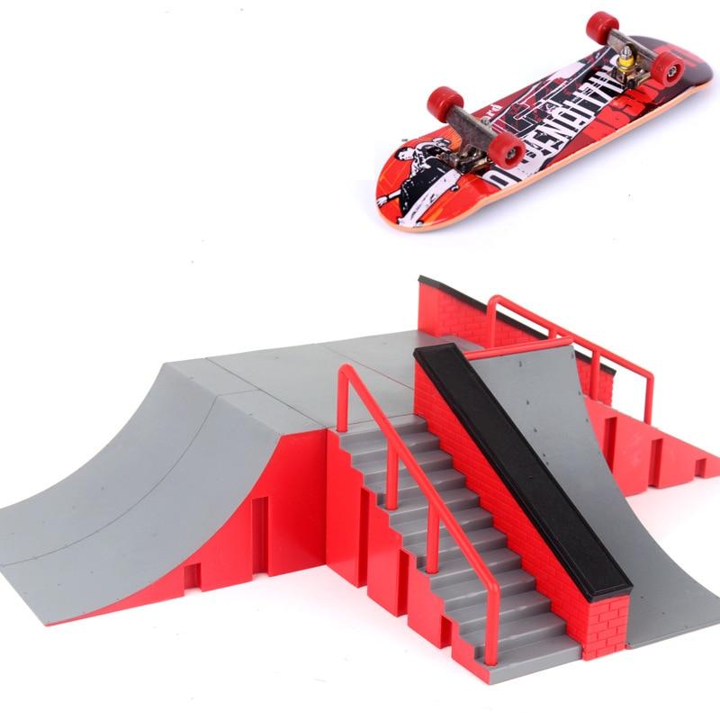 1pc mini skate brinquedo skate parque para techdeck fingerboard rampas de skate fingerboard parque final placa