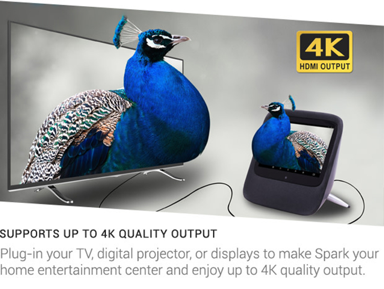 Supporting 4K video output when connect it to TV thought HDMI cable