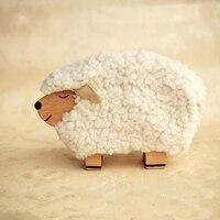 New British Style Creative Gift Decoration Desktop Arrangement Wooden Sheep Music Box Eight tone Box Music Box