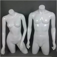 Top Level Manufacturing Technology Upper Body Manikin Gloss White Mannequin On Sale
