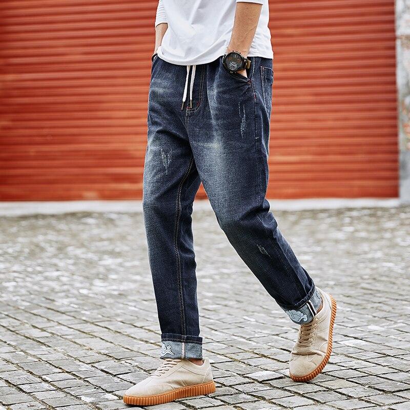 Harem Haute M Déchiré En Jeans Grand Mens Difficulté Foncé Slim Designer Casual Moto 8xl Denim Bleu Vêtements Stretch Hommes Grande Pantalon Taille XUUtqpv
