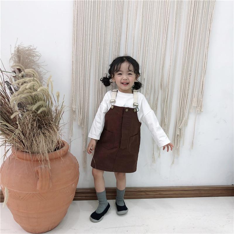 Celveroso Neue Mädchen Casual Hosenträger Rock Kleinkind Mädchen Outfits Kleidung Baumwolle Overalls Outfits Sommer Mädchen Kleidung SchöNer Auftritt Mutter & Kinder Mädchen Kleidung