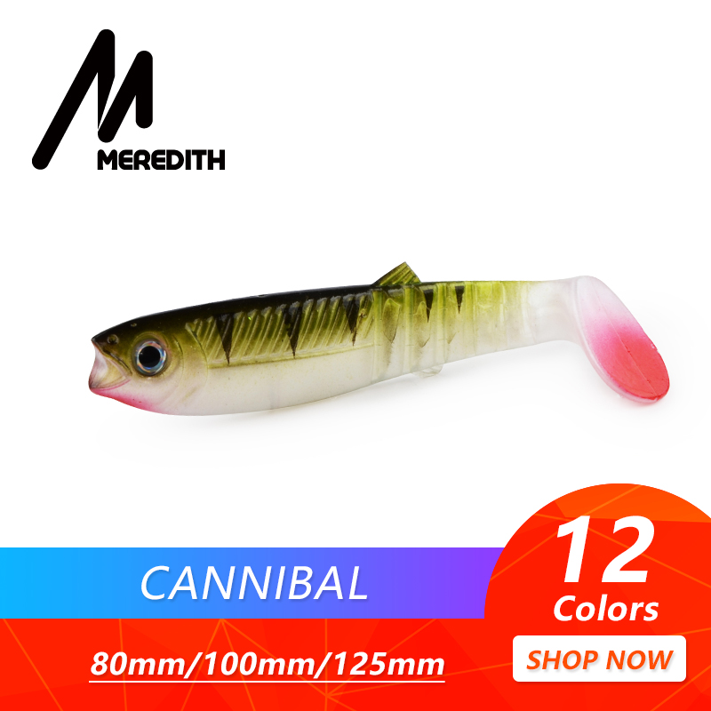 MEREDITH Cannibal Baits 80mm 100mm 125mm Artificial Soft Fishing Lures Wobblers Fishing Soft Lures Silicone Shad Worm Bass Baits hp 507a ce401a
