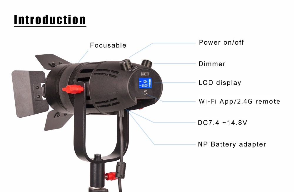 Image 3 - 1 Pc CAME TV Boltzen 30w Fresnel Fanless Focusable Led Daylight-in Photo Studio Accessories from Consumer Electronics