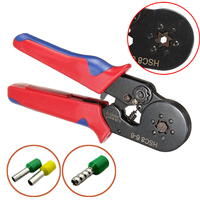Mayitr Crimping Pliers HSC8 6 6 Nylon Handle Six Mandrel Ratchet Ferrule Crimp Tool Connector 0