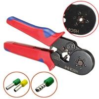 Mayitr Crimping Pliers HSC8 6 6 Nylon Handle Six Mandrel Ratchet Ferrule Crimp Tool Connector 0