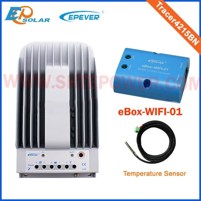 Tracer 4215BN + WIFI BOX Mobile Phone APP EPsloar 40A MPPT Solar Charge Controller communication