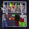 Fishing Lures Kit Mixed Swivel Hook Spinner Grip Fish Lures Set In Storage Box Isca Artificial