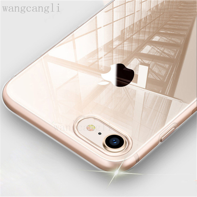 Ultra Thin Soft Transparent TPU Case For iPhone 8 8 7 Plus 7 Clear Silicone Full Cover For iPhone X Case 6 6S Plus Cases(China)