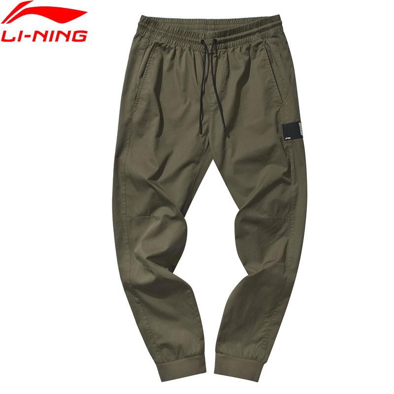 Li Ning Men Basketball Series BAD FIVE Leisure Pants 100 Cotton 3D Fitting LiNing Comfort Drawcord