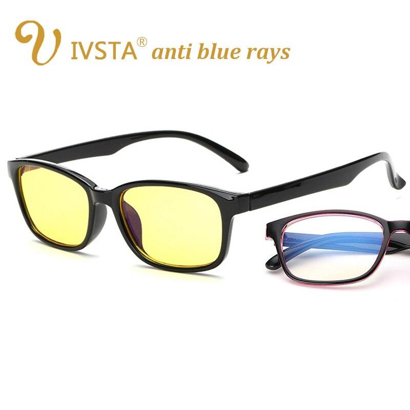 IVSTA computadora gafas Anti azul rayos de radiación de las mujeres de los hombres gafas cuadradas óptico del juego de las mujeres de los hombres juego teléfono ojos C028