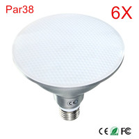 6PCS High Power B22/E27 15W PAR38 Waterproof IP65 LED Spot Light Bulb Lamp Indoor Lighting Dimmable AC85 265V