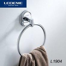 Настенный держатель для полотенец LEDEME, держатель для полотенец в рулоне, хромированные аксессуары для ванной комнаты, аксессуары для ванной комнаты L1904
