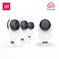YI 4pc Home Camera Night Vision Video Monitor IP Wireless Network Surveillance Home Security Internation Version