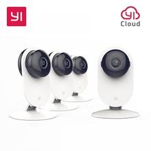 YI 4pc Home Camera  Night Vision Video Monitor IP/Wireless Network Surveillance Home Security Internation Version US Plug White