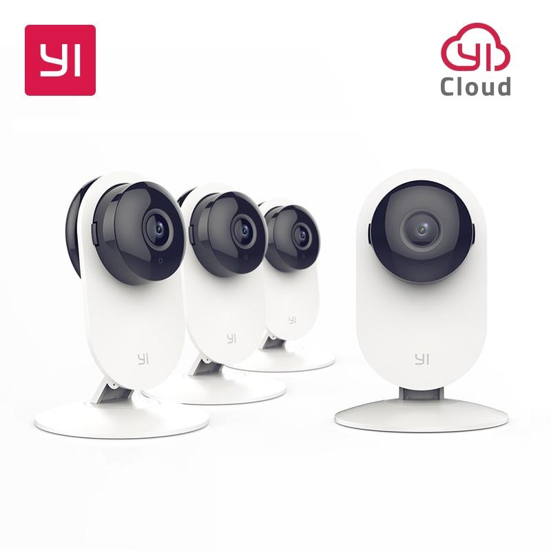 YI 4pc Home Camera Night Vision Video Monitor IP Wireless Network Surveillance Home Security Internation Version