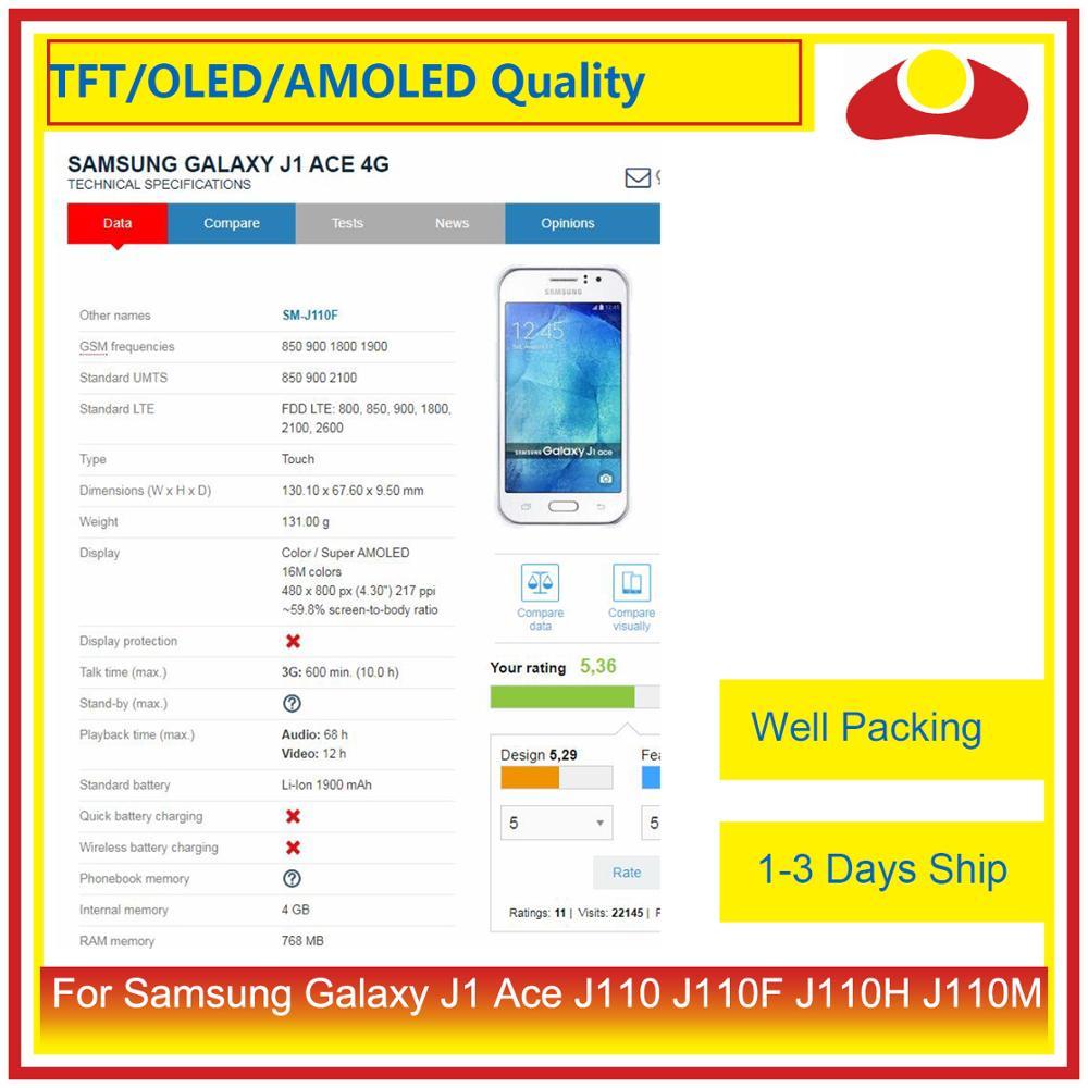 """Image 3 - Оригинальный 4,3 """"для Samsung Galaxy J1 Ace Sm J110 J110 J110F J110 ЖК дисплей с сенсорным экраном дигитайзер панель в сборе-in ЖК-экраны для мобильного телефона from Мобильные телефоны и телекоммуникации"""