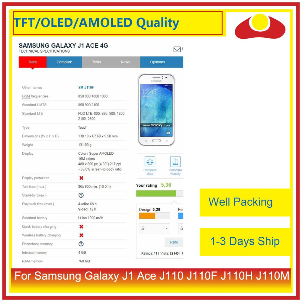 "Image 3 - ORIGINAL 4.3"" For Samsung Galaxy J1 Ace Sm J110 J110 J110F J110 LCD Display With Touch Screen Digitizer Panel Assembly Complete-in Mobile Phone LCD Screens from Cellphones & Telecommunications"