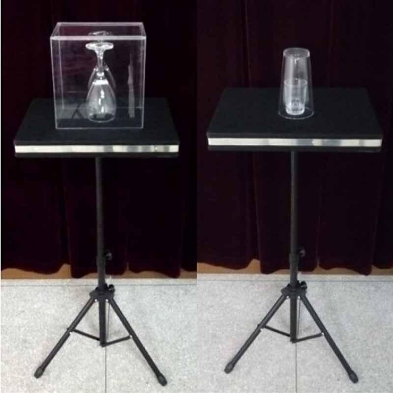 Bris de verre télécommandé et Coin dans la Table en verre tours de magie drôle scène Magia mentalisme Illusion accessoires de Gimmick Magica