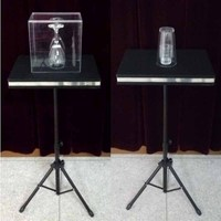 Remote control Glass Breaking and coin into glass table Magic Tricks,Mentalism,Accessories,Illusion,gimmick