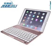 Keyboard For iPad 2017 Air 2 Mini 1234 Tablet Case Stand Removable Wireless Bluetooth Aluminum PU Leather For iPad Pro 9.7 Cover
