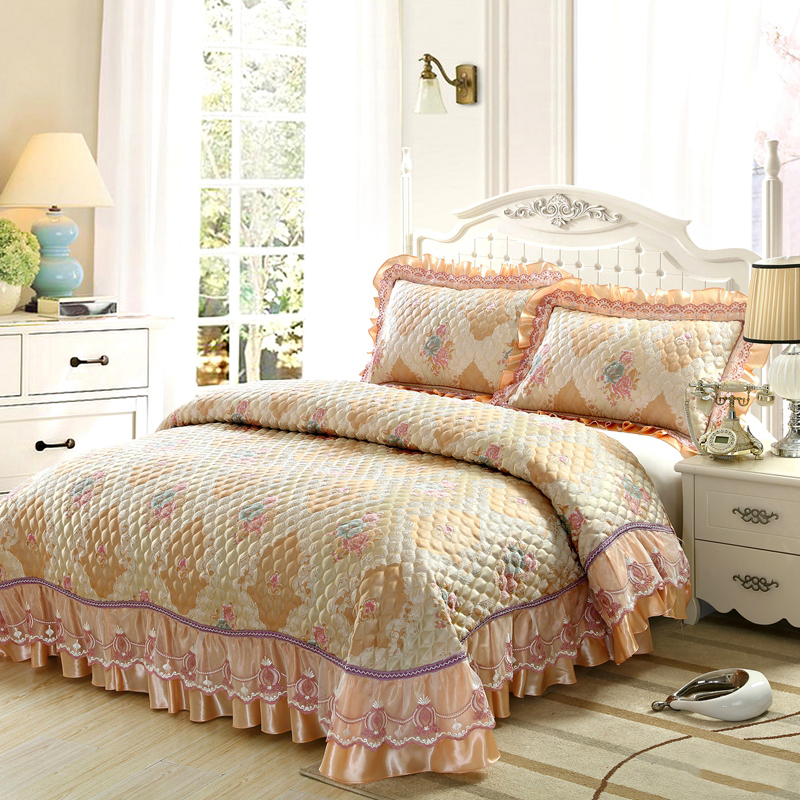 100 cotton luxury bedding set patchwork quilt king size 250270cm comforter set bedsheet