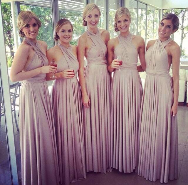 Real Made Elegant Bridesmaid Halter Neckline Open Back Sexy Draped ...