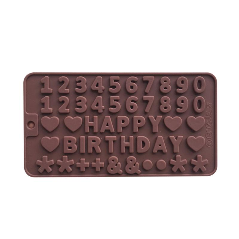 3D HAPPY BIRTHDAY And Numbers Nonstick Chocolate Cookie Molds Cake Decoration Moulds Sugar Craft Cupcake Decorating Tools