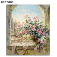 Frameless Pictures Wall Art Diy Oil Painting Home Decoration Painted Flowers By Numbers Handwork Gifts 40