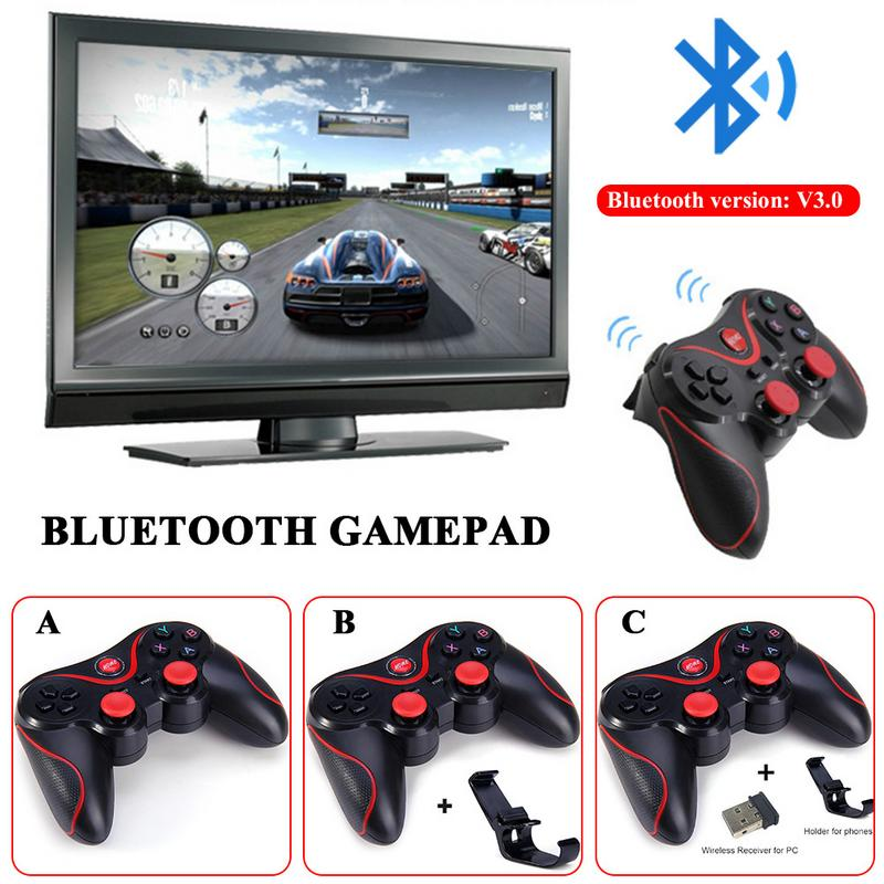 2018 New T3 Bluetooth Wireless Gamepad S600 STB S3VR Game Controller Joystick For Android Mobile Phones PC For Big Game Play