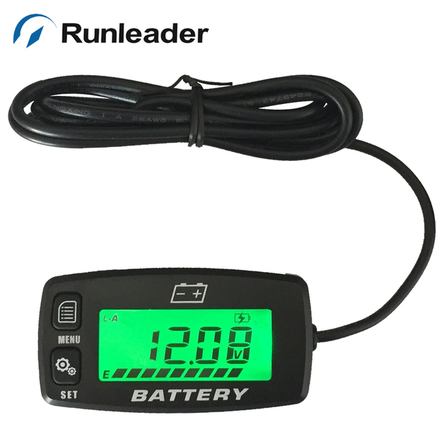 Runleader BI008 Battery Gauge battery GEL/LiFePO4/AGM Voltmeter battery indicator For Auto Motorcycle Generator ATV Tractor car