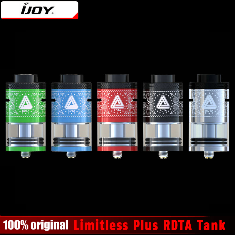 100 Original IJOY Limitless Plus RDTA 2 Post Deck 6 3ml Atomizer Rebuildable Genesis Style Tank