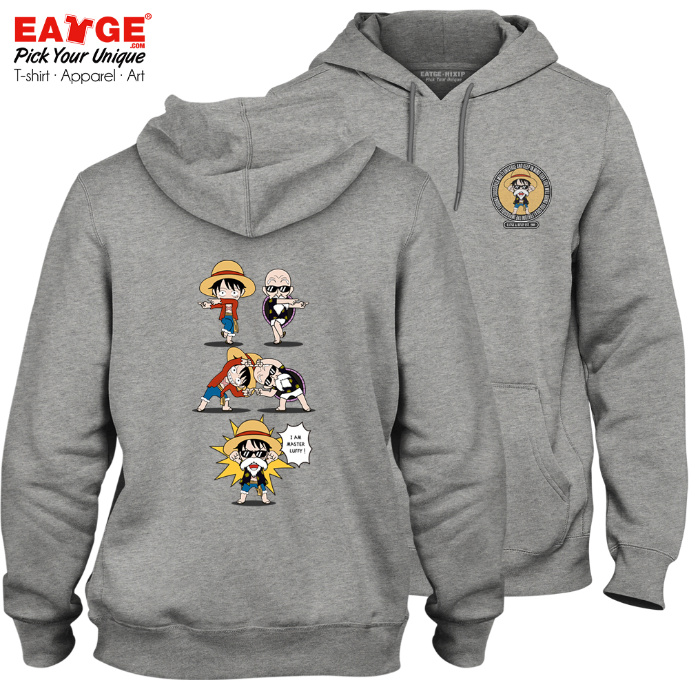 Men's Clothing Forceful Master Roshi Crossover Monkey Luffy Fleece Hoodies One Piece Dragon Ball Fashion Punk Print Funny Hip Hop Women Men Sweatshirts To Win Warm Praise From Customers