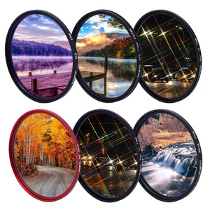 Image 1 - KnightX FLD UV CPL ND Star Filter polarizer red Camera Lens gnd Filter For canon eos sony nikon 49 52 55 58 62 67 72 77 mm color