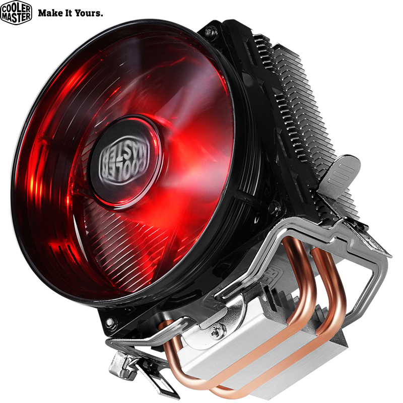 Cooler Master RR-T2V1-20FK 2 Heat Pipe CPU Cooler For Intel 775 115X AMD AM4 T20 CPU Radiator 95.5mm Quiet CPU Cooling LED Fan