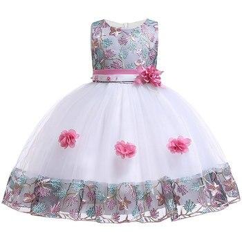 5e68baa41 Flor vestido de niña para niños boda bebé niña vestido 3 4 5 6 7 8 años  cumpleaños bebé niñas noche vestidos de Fiesta Vestidos