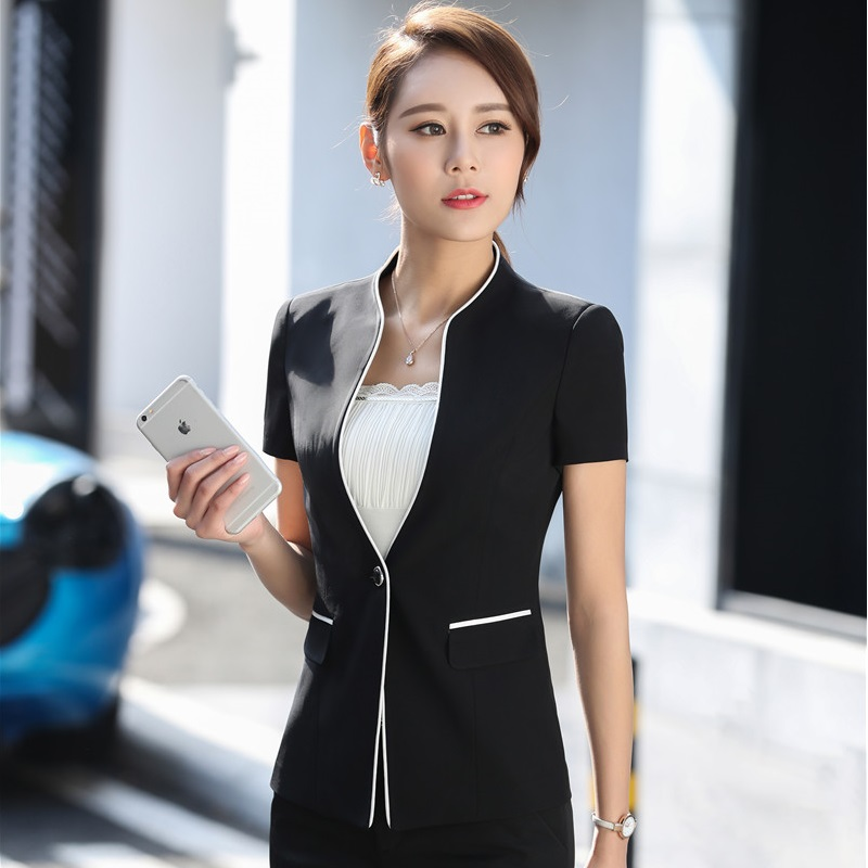 2017 Summer Formal OL Style Blazers Women Jackets Slim Fashion Ladies Blazer Coat Business Work Wear Plus Size 3XL Female Tops