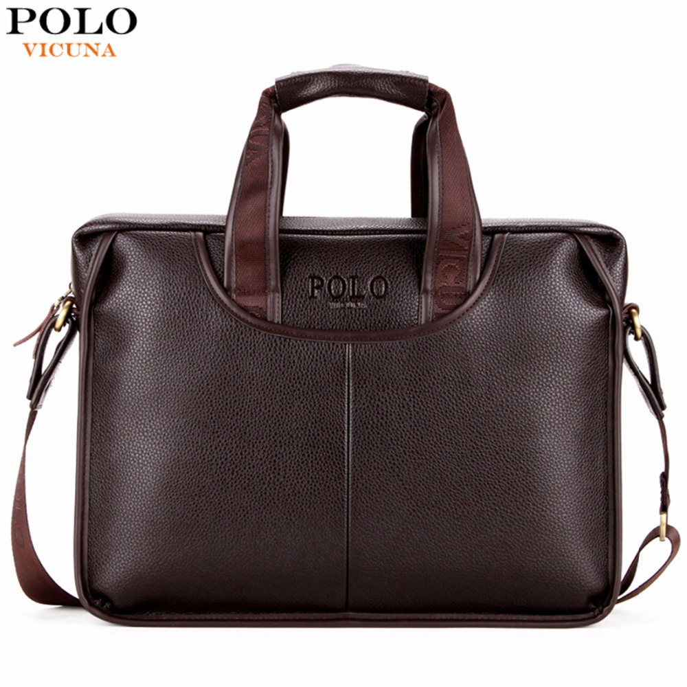 Vicuna Polo Classic Design Large Size Leather Briefcases