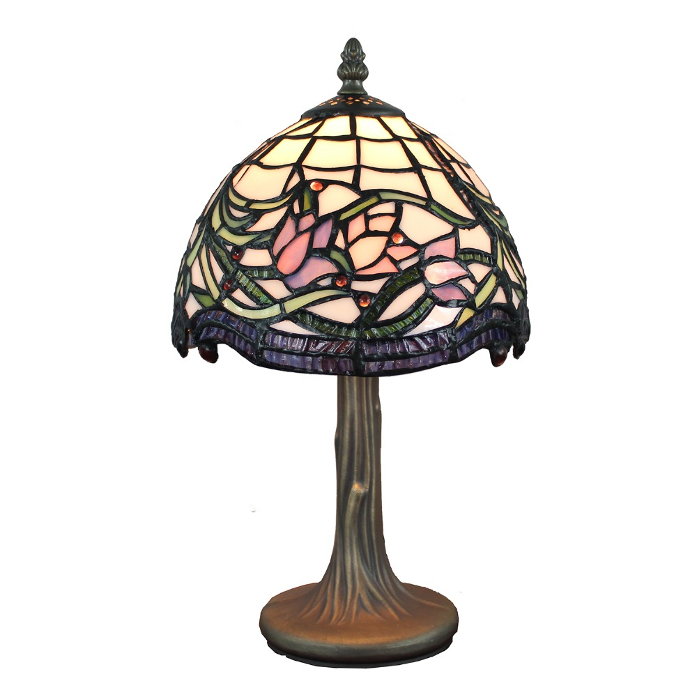 141 Gorgeous Desk Lamp Designs: Beautiful Stained Glass Hand Crafted Wild Vine Lotus