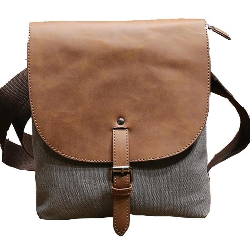 ФОТО new Korean men's canvas shoulder bag/man business casual messenger bag/panelled color simple hasp crossbody single shoulder pack