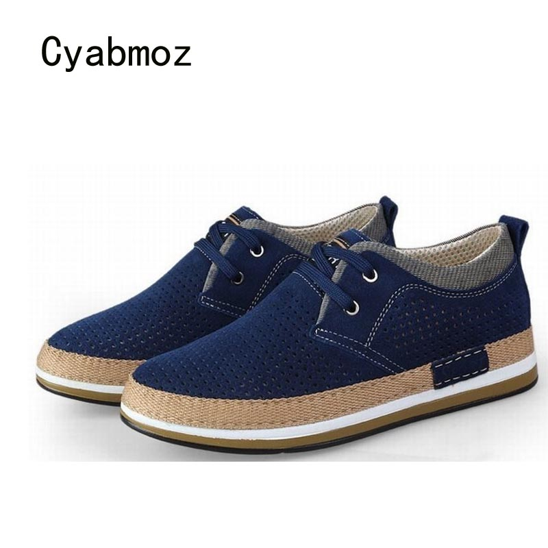 Cyabmoz Man Shoes Height Increasing 6cm Elevator Casual Shoes Cow   Suede     Leather   Fashion Men Lace up Breathable Platform Shoes