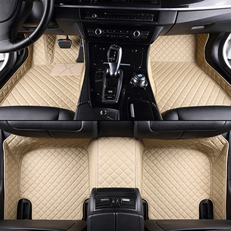 XWSN custom car floor mat for Audi A6L R8 Q3 Q5 Q7 S4 S5 S8 RS TT Quattro A1 A2 A3 A4 A5 A6 A7 A8  car foot mat Auto parts car seat crevice interior seat cover car leakproof protective sleeve seam for audi 80 s line a5 a1 a3 a4 a6 a8 a7 tt q3 q5 q7 c5