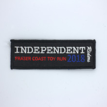 Custom Embroidered Patch FLAG Personalised TAG NAME TEXT National Backpack Badge 10