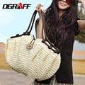 OGRAFF estilo do saco das mulheres bolsas de 2017 bolsas de Verão bolsa De Palha tecida saco da praia da palha famoso designer bolsas de marca de alta qualidade
