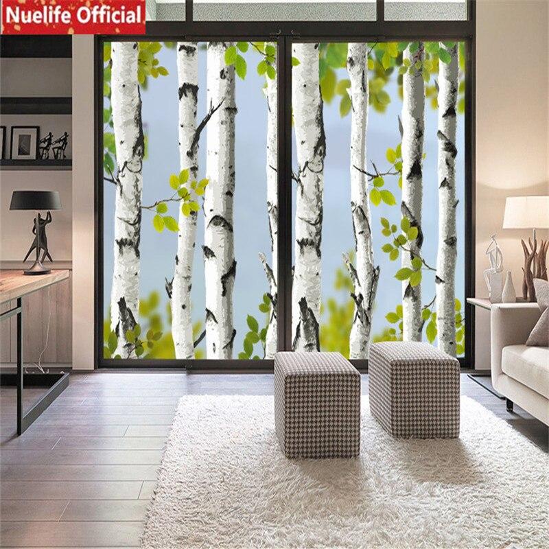 Bedroom Door Handle Broken Youth Bedroom Sets For Boys Bedroom Wall Decals B Q Bedroom Furniture: Color Birch Pattern Electrostatic Glass Film Living Room