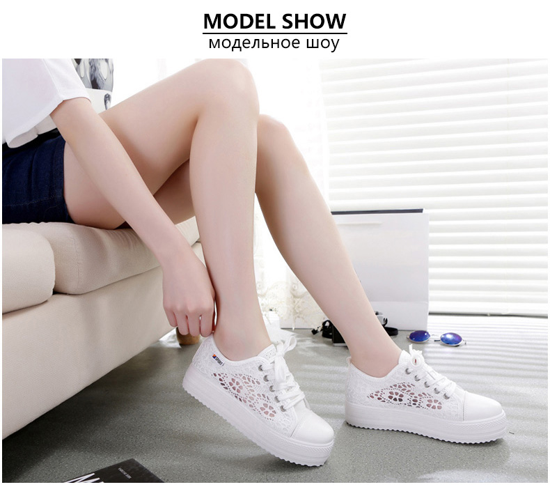 HTB1J5xkdcic eJjSZFnq6xVwVXaA Women shoes 2019 fashion summer casual ladies shoes cutouts lace canvas hollow breathable platform flat shoes woman sneakers