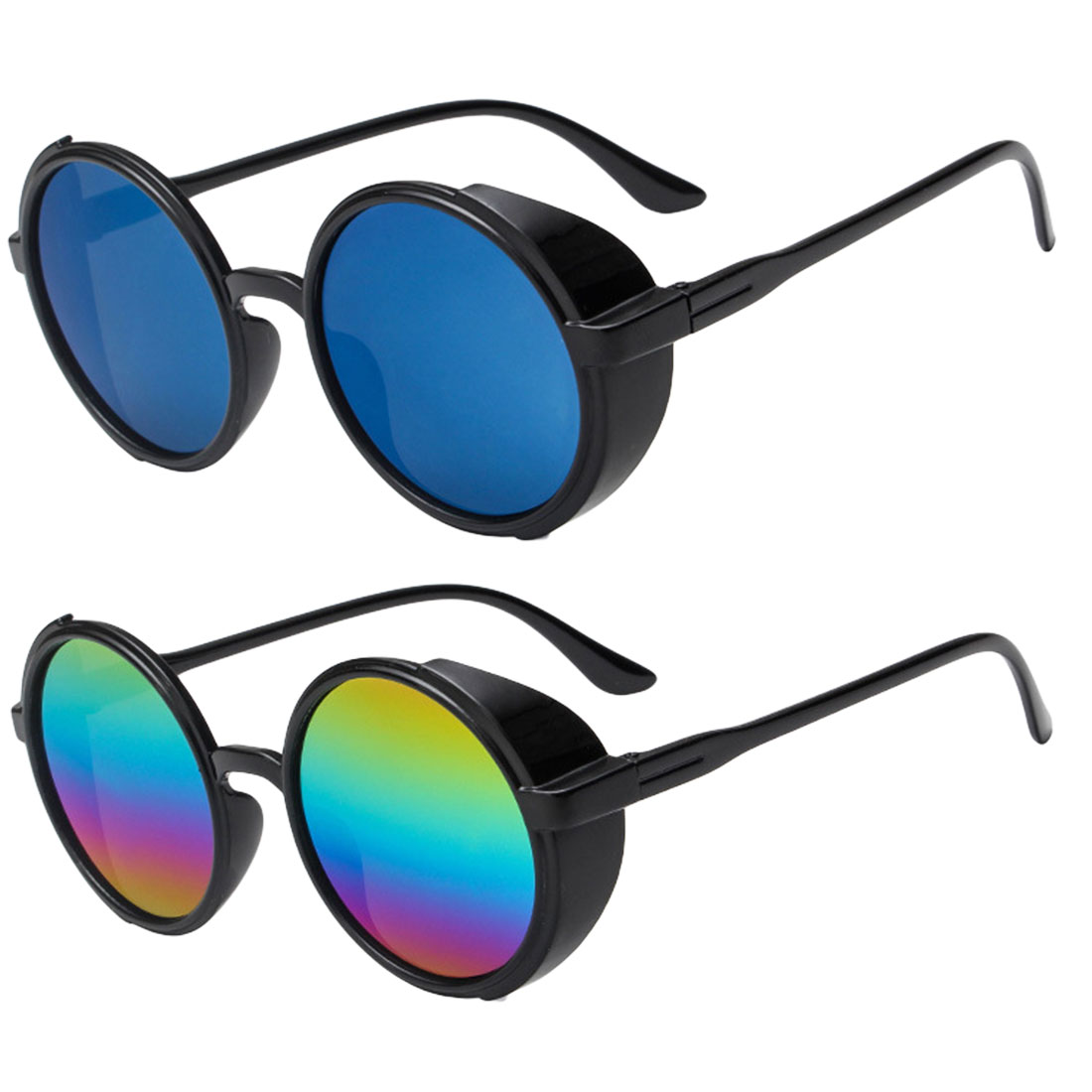 metal round steampunk sunglasses men women fashion summer 2019 pink blue yellow red round sun glasses for women unisex in Men 39 s Sunglasses from Apparel Accessories