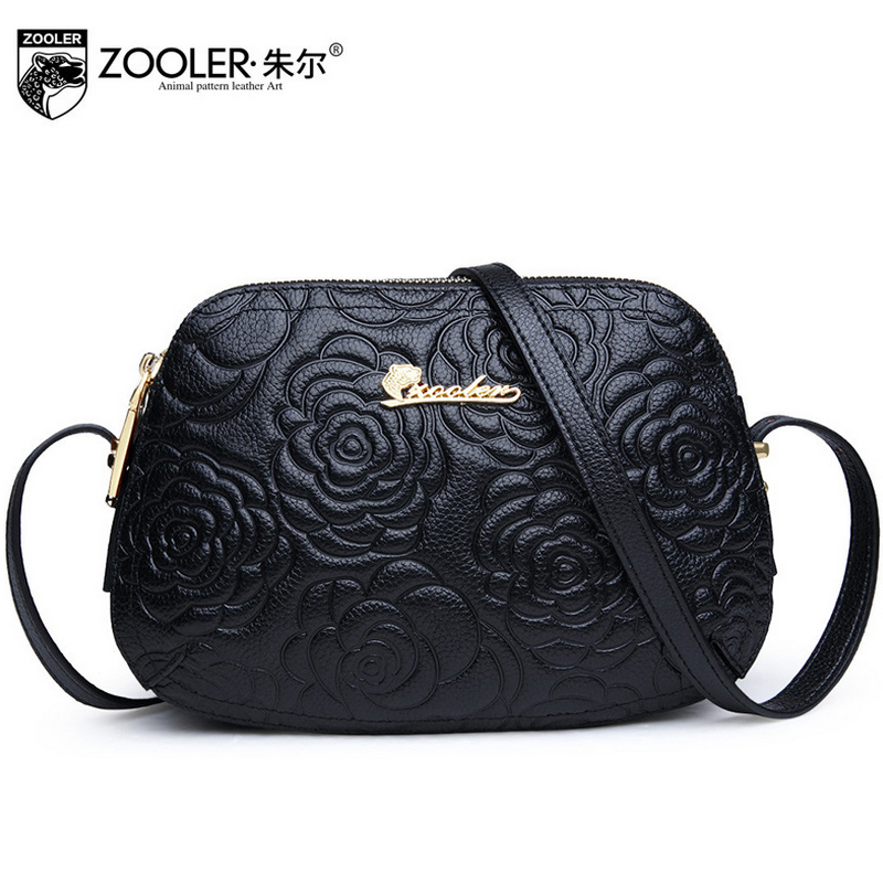 ZOOLER Bag For Women Messenger Bags Handbags Women Famous Brands Ladies Floral Circular Genuine Leather Shoulder Bag Sac A Main new trend 2016 zooler women genuine leather messenger bags vintage crossbody bag bags handbags women famous brands high quality